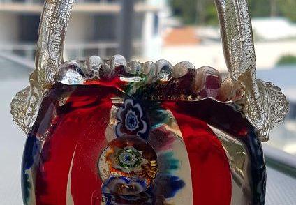 A beautiful designer handbag from Murano glass